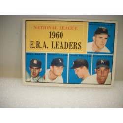 1961 Topps 60 ERA Leaders NL