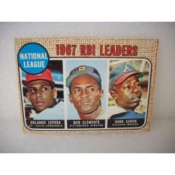 1968 Topps 1967 NL RBI Leaders