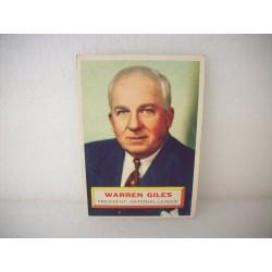 1956 Topps Warren Giles
